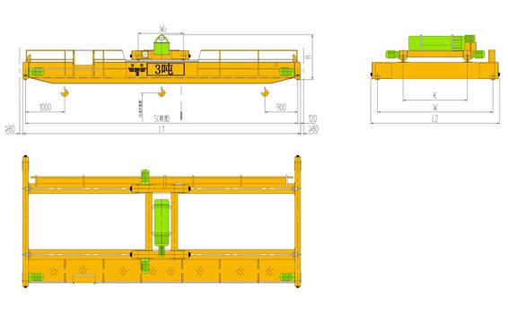 3吨双梁桥式起重机主要技术参数及配置