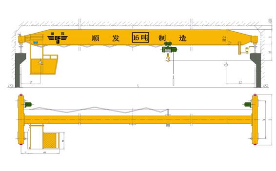 16吨单梁起重机技术参数及配置表