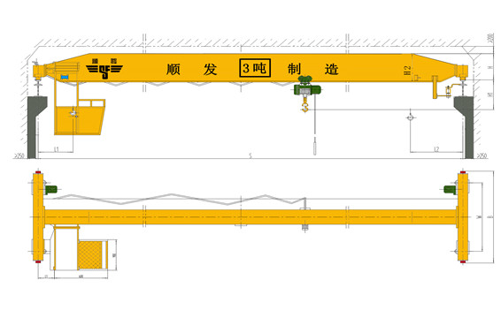 3吨单梁起重机技术参数及配置表