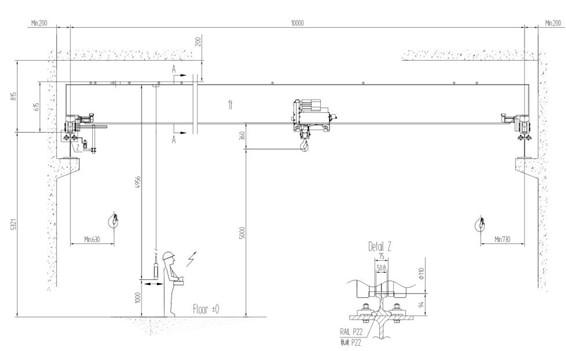 1t欧式电动单梁起重机主要性能及技术参数